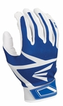 Easton White/Royal Adult Z3 Hyperskin Batting Gloves