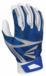 Easton White/Royal Camo Adult Z7 Hyperskin Batting Gloves