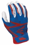 Easton White/Royal/Red Camo Adult Z7 Hyperskin Batting Gloves
