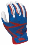 Easton White/Royal/Red Camo Youth Z7 Hyperskin Batting Gloves A121329