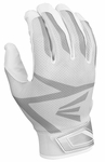 Easton White/White Youth Z3 Hyperskin Batting Gloves