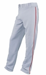 Easton Youth Gray/Red Rival Piped Pants A164561