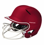 Easton Youth Maroon Natural Grip Solid Batting Helmet with Mask A168034