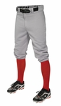 Easton Youth Pro + Knicker Gray Baseball Pants A167104