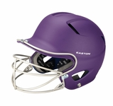 Easton Youth Purple Natural Grip Solid Batting Helmet with Mask A168034