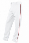 Easton Youth White/Red Rival Piped Pants A164561