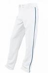Easton Youth White/Royal Rival Piped Pants A164561