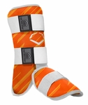 Evoshield Protective Batter's Leg Guard - Speed Stripe - Orange