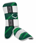 Evoshield Protective Batters Leg Guard - Speed Stripe - Green