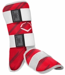 Evoshield Protective Youth Batter's Leg Guard - Speed Stripe - Red