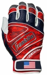Franklin Adult Powerstrap Fourth of July Batting Gloves