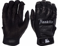 Franklin Black Adult CFX Pro Chrome Dip Batting Gloves 20593f