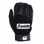 Franklin Black/Black Adult Pro Classic Batting Gloves