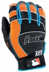 Franklin Black/Blue/Orange Youth Shok-Pro Batting Gloves 21350F1-P