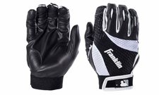 Franklin Black/White Adult 2nd Skinz Batting Glove