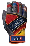 Franklin Gray Youth Powerstrap Players Weekend Batting Gloves