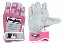 Franklin Light Pink Youth CFX Pro Batting Gloves