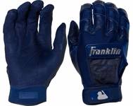 Franklin Navy Adult CFX Pro Chrome Dip Batting Glove 20590F