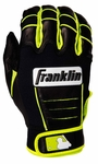 Franklin Neon/Black Adult CFX Pro Batting Gloves