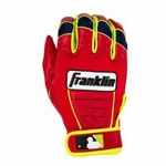 Franklin Ortiz Red/Optic Yellow Youth CFX Pro Batting Gloves