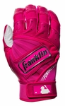 Franklin Pink Adult Powerstrap Mother's Day Batting Gloves