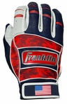 Franklin USA Adult Fourth of July Neo Classic Batting Gloves