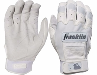 Franklin White Adult CFX Pro Chrome Dip Batting Glove 20592F
