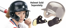 Markwort C-Flap Cheek and Jaw Guard Black - Helmet Not Included