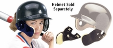 Markwort C-Flap Cheek and Jaw Guard Navy - Helmet Not Included