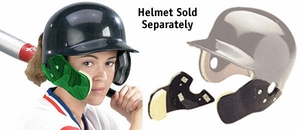 Markwort C-Flap Cheek and Jaw Guard Green - Helmet Not Included