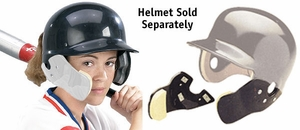 Markwort C-Flap Cheek and Jaw Guard White - Helmet Not Included