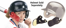 Markwort C-Flap Cheek and Jaw Guard Scarlet - Helmet Not Included