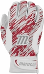 Marucci Quest Batting Gloves White/Red