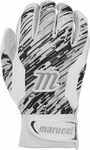 Marucci Quest Youth Batting Gloves White/Black