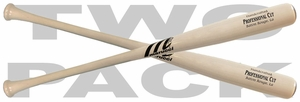 Marucci Whitewash Professional Cut Maple Wood Baseball Bat - 2-PACK
