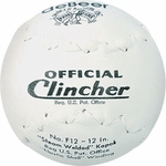 """Rawlings 12"""" deBeer Clincher Leather White Softballs W10299 -- 1 Ball"""