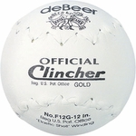 """Rawlings 12"""" deBeer Clincher Leather White Softballs W10308 -- 1 Ball"""