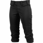 Rawlings Adult Low-Rise Black Women's Softball Pants WRB150-B