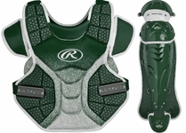 Rawlings Green Adult Velo Cather's Equipment SBLGVEL Chest and Shins Only
