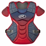 Rawlings Navy/Scarlet Intermediate Velo Chest Protector CPVELINS