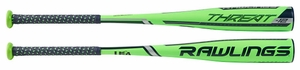 "Rawlings Threat 2-5/8"" Youth USA Bat US9T12 -12oz (2018)"