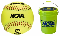 "Worth 12"" B518 Yellow Fastpitch Softballs NC12BB -- 18 Balls"