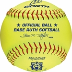 "Worth 12"" Babe Ruth Yellow Fastpitch Softball WOO498675 1dz"