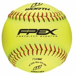 "Worth 12"" FPEX Yellow Practice Ball W605517 1 dz"