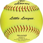 "Worth 12"" Little League Yellow Softball  W16518 1 dz"