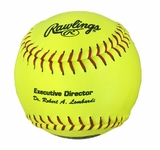 "Rawlings 12"" PIAA Yellow Softball w/NFHS Stamp PX2RYL -- 1 dz"