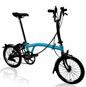 Brompton Black Edition 2017 - Lagoon Blue H6L