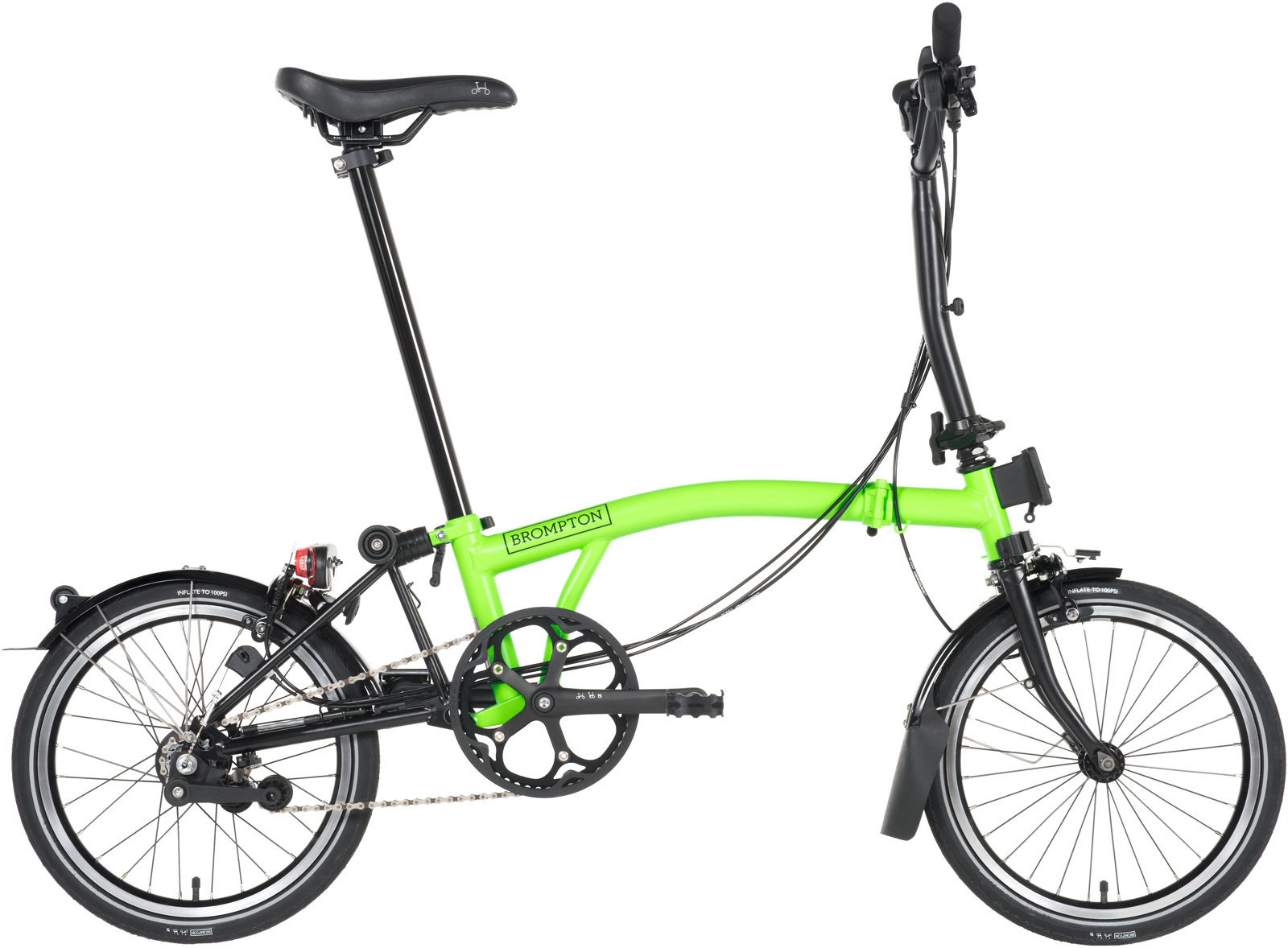 Electric Bikes For Sale >> Brompton Black Edition 2017 - Lime Green H6L - shop all new Brompton Black editions at NYCeWheels