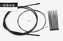 Gear cable 3-spd & ties, S-type, Part# QGCAB3A-S
