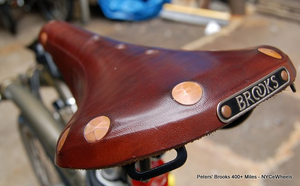 After 1200 miles my Brooks leather saddle is really comfortable